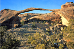 Landscape Arch in Arches National Park, Moab Ut