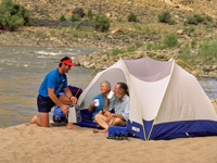 Great camping  on river trips