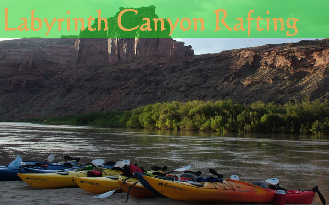 Touring Kayaks on Labyrinth Canyon