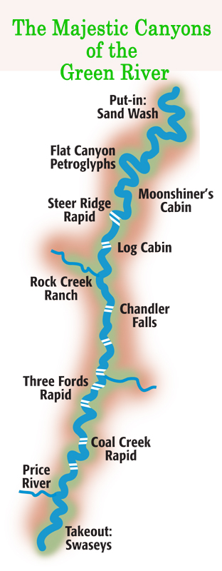 Map of Majestic Canyons of the Green River