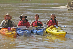 Women at play on the colorado river