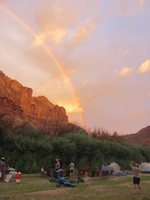 rainbow in Labyrinth Canyon